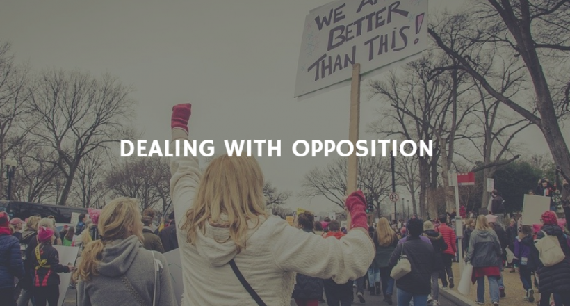 dealing with opposition no logo